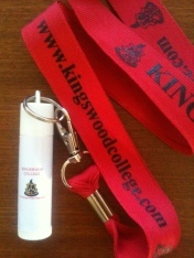 Kingswood College lanyard/lip ice
