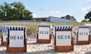 Quaint German Beach huts
