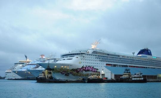 Docked in Nassau